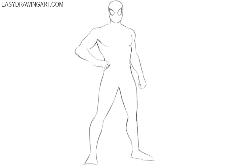 how to draw spiderman draw so cute