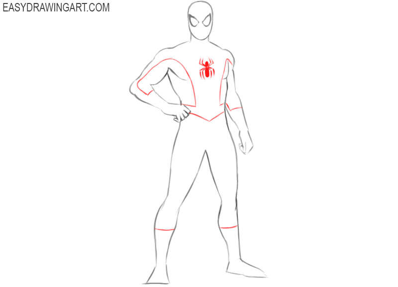 how to draw spiderman drawing