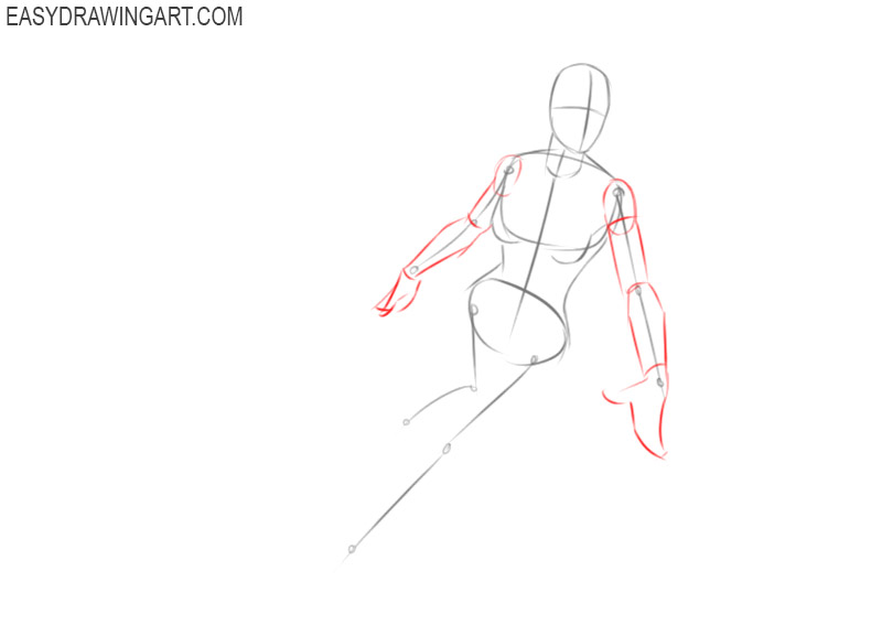 how to draw supergirl step by step easy