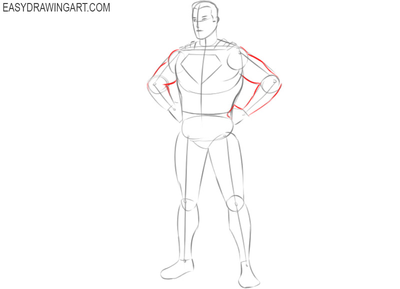 how to draw superman pencil drawing