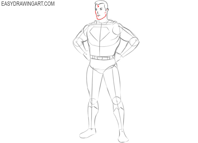 how to draw superman very easy