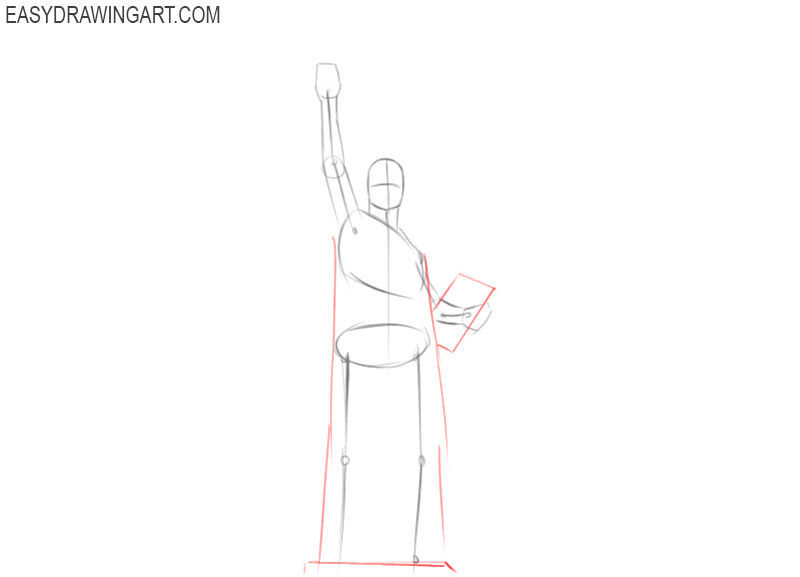how to draw the statue of liberty easy step by step