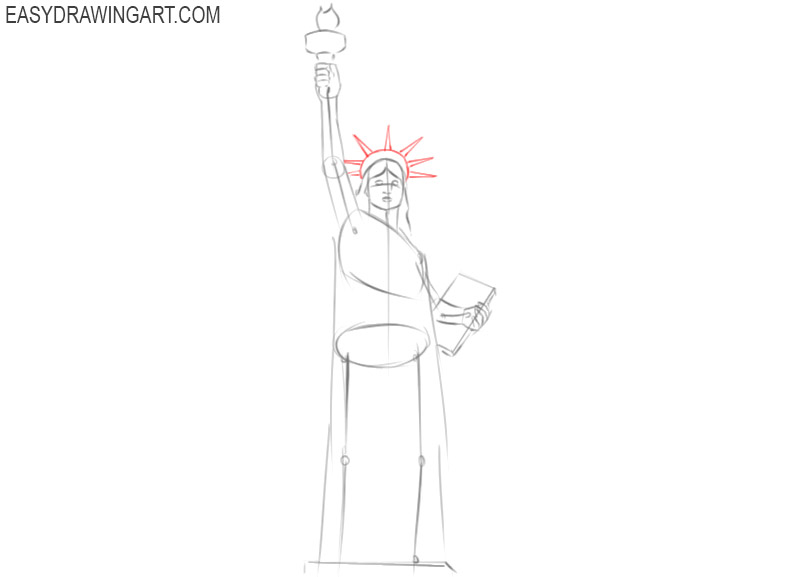 how to draw the statue of liberty for kids