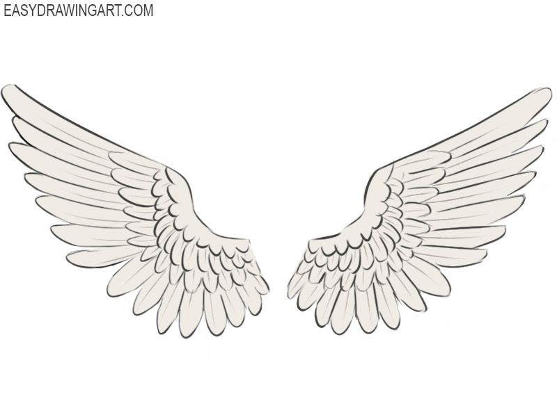 How To Draw Wings Easy Drawing Art