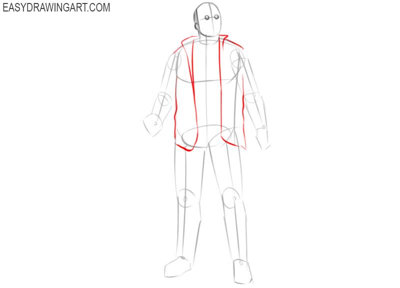 jason voorhees drawing step by step