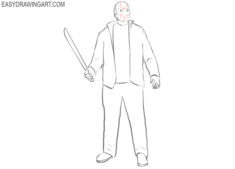 jason voorhees pencil drawing