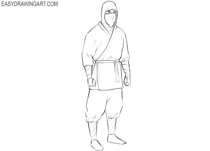 ninja assassin drawing