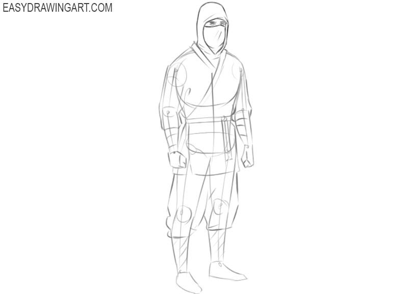 ninja drawing easy