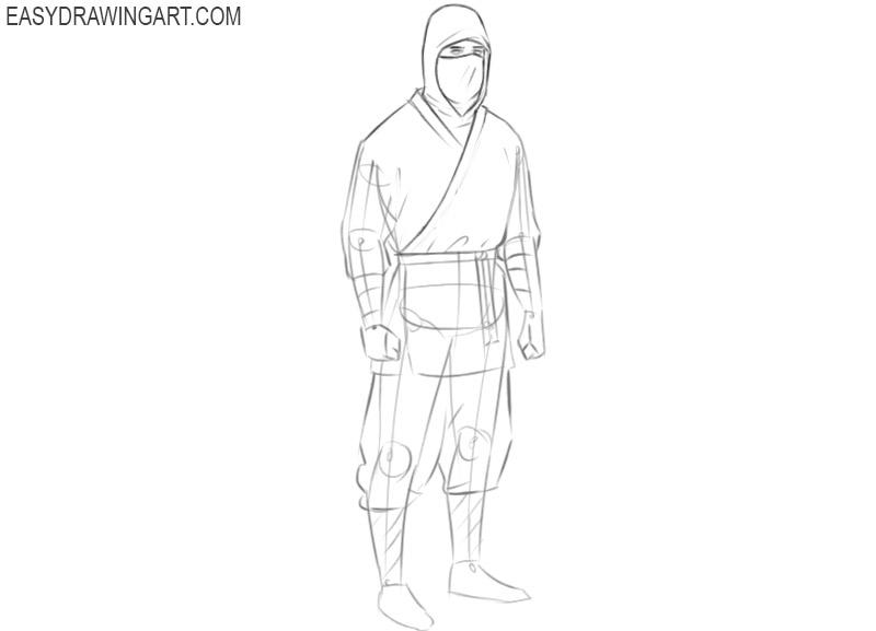 ninja drawing step by step