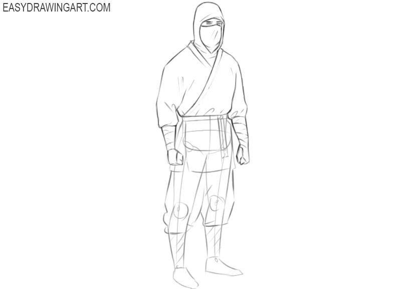 ninja drawing tutorial
