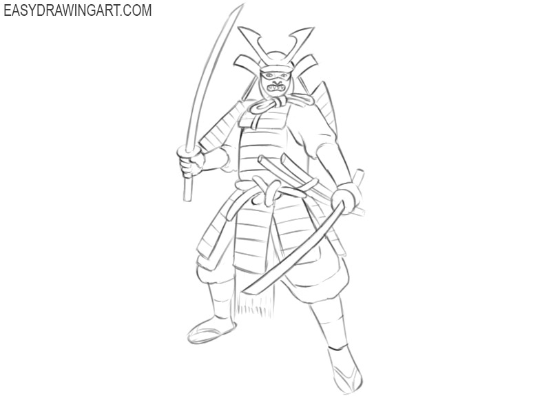 ninja samurai drawing