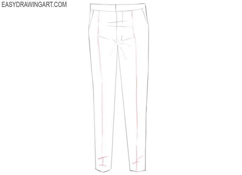pants drawing easy