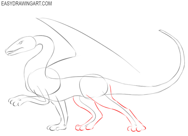 pics of how to draw a dragon