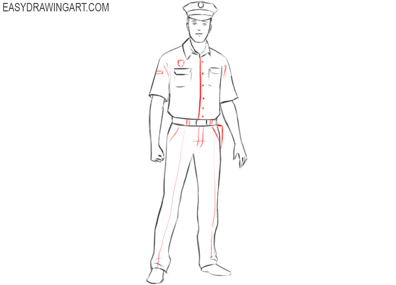 police officer drawing for beginners