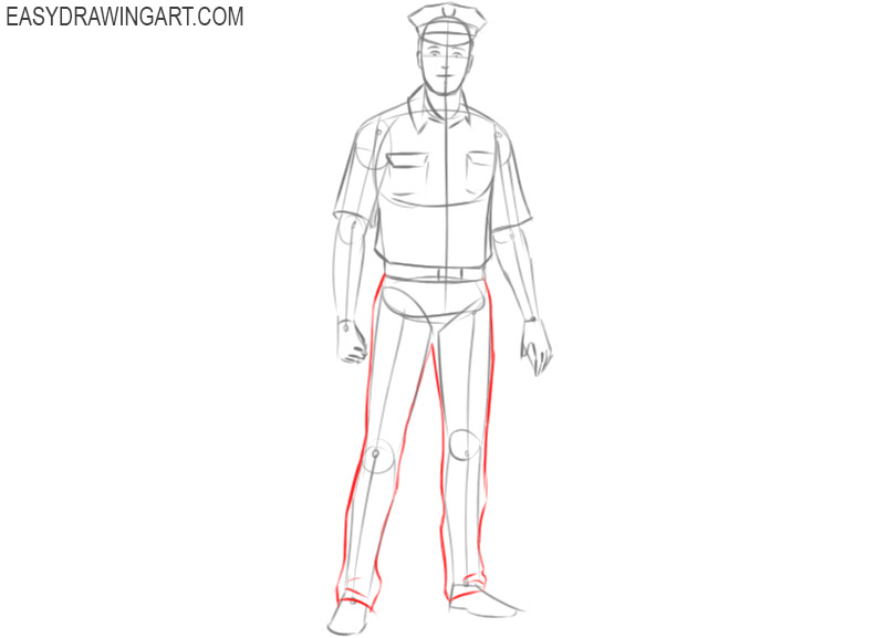 police officer drawing step by step