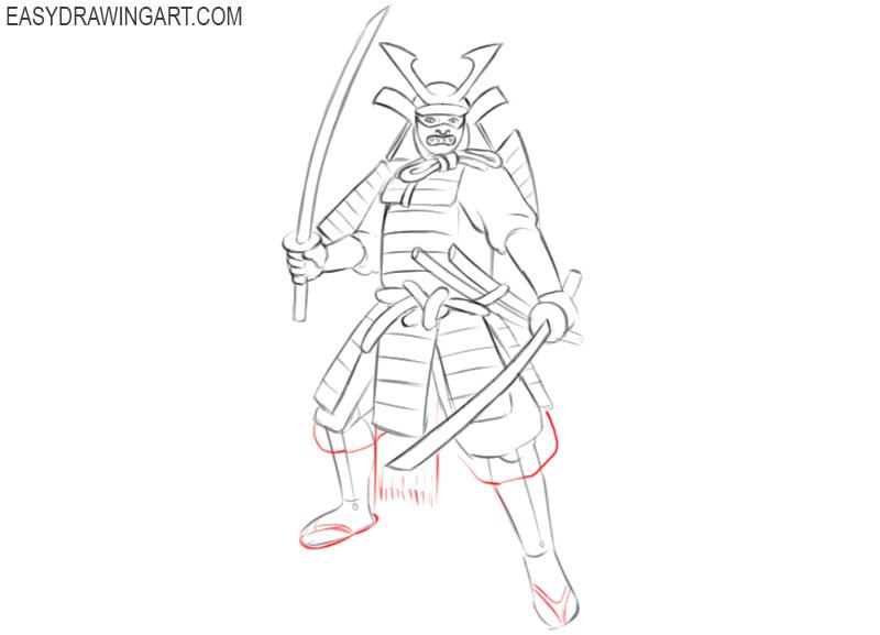 samurai cartoon drawing