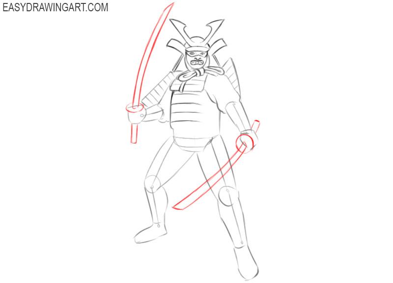 samurai drawing easy