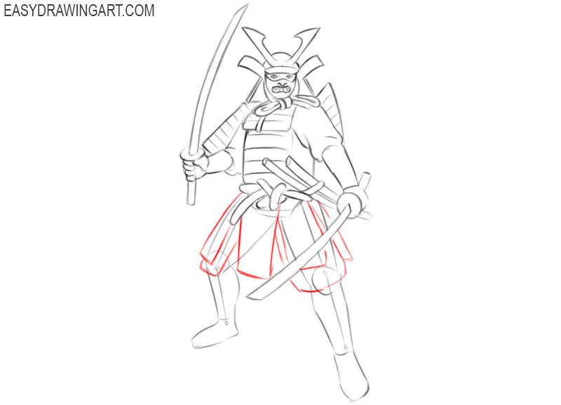 samurai drawing images
