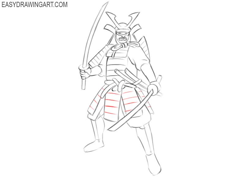 samurai easy drawing