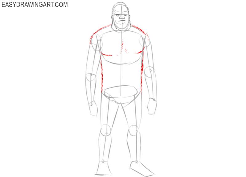 sasquatch drawing easy