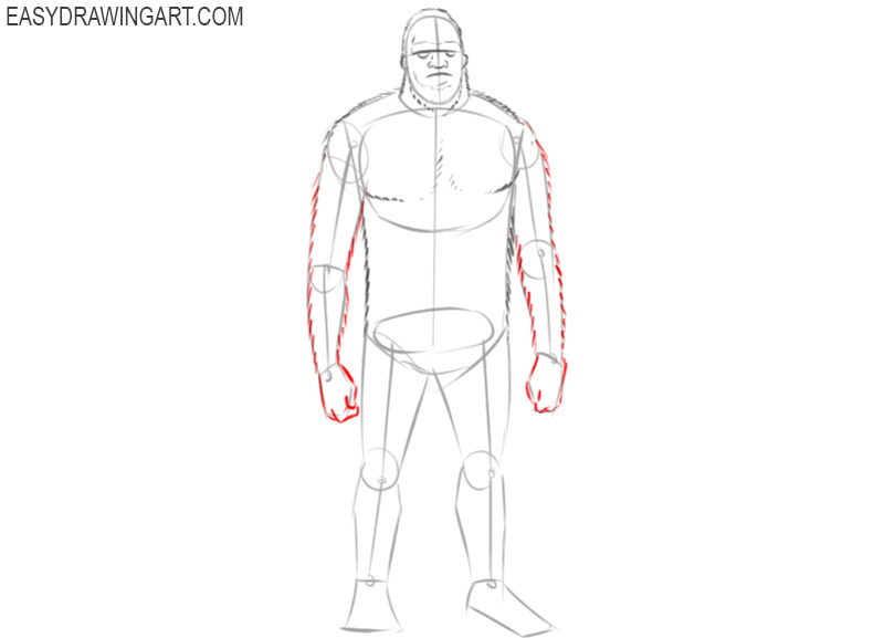 sasquatch drawing outline