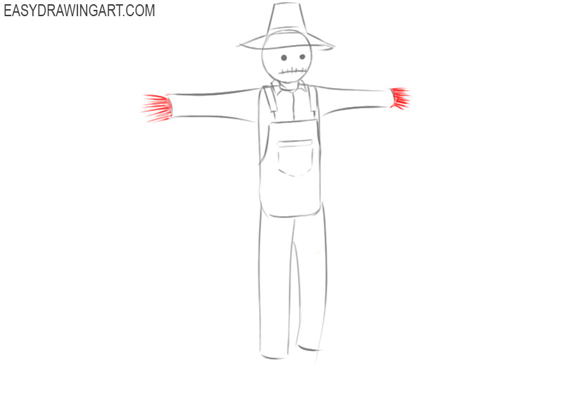scarecrow drawing cute