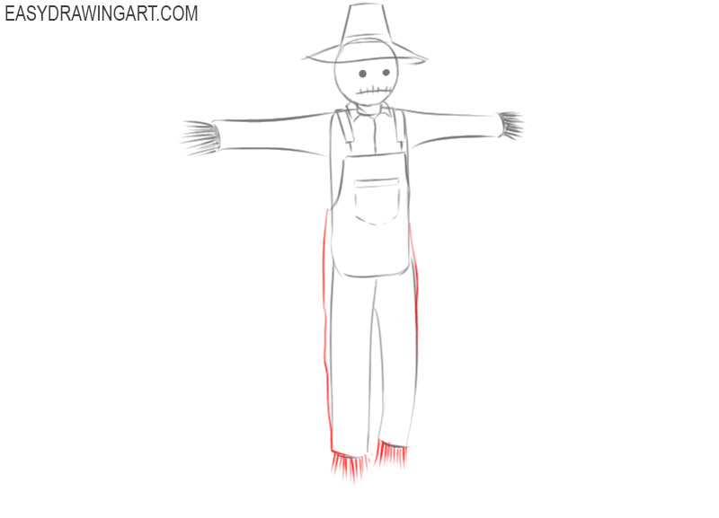 scarecrow drawing easy