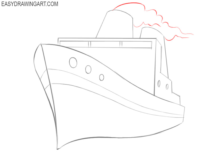 ship drawing easy