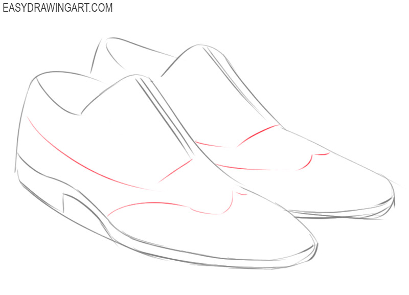 shoes drawing easy