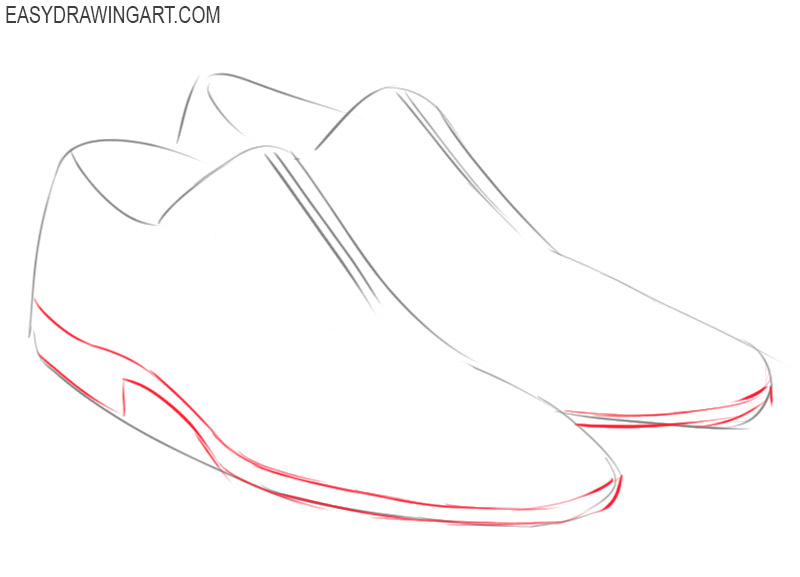 shoes drawing step by step