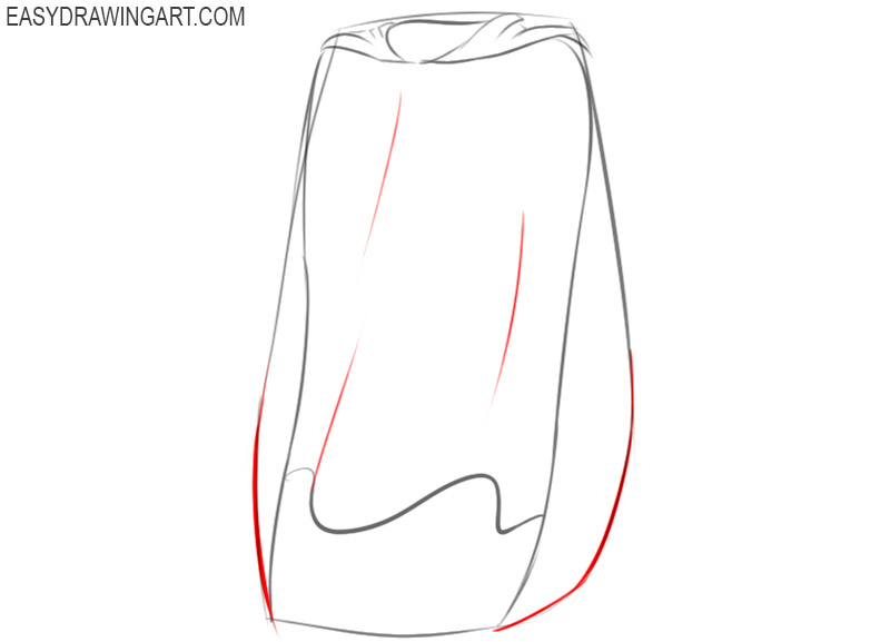 superhero cape drawing