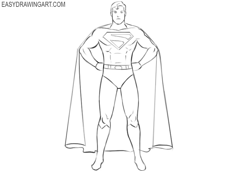 superhero drawing easy