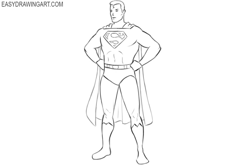superman drawing arts