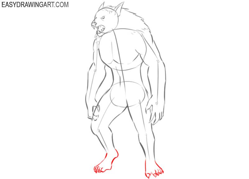 teach me how to draw a werewolf