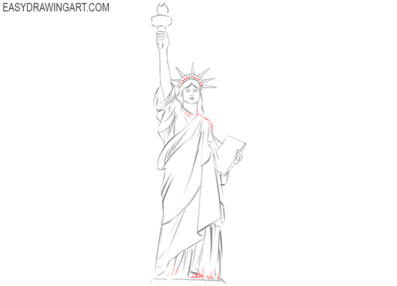 the statue of liberty drawing easy