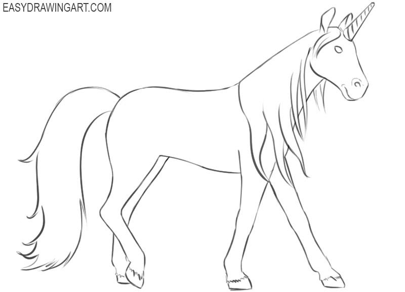 unicorn drawings easy