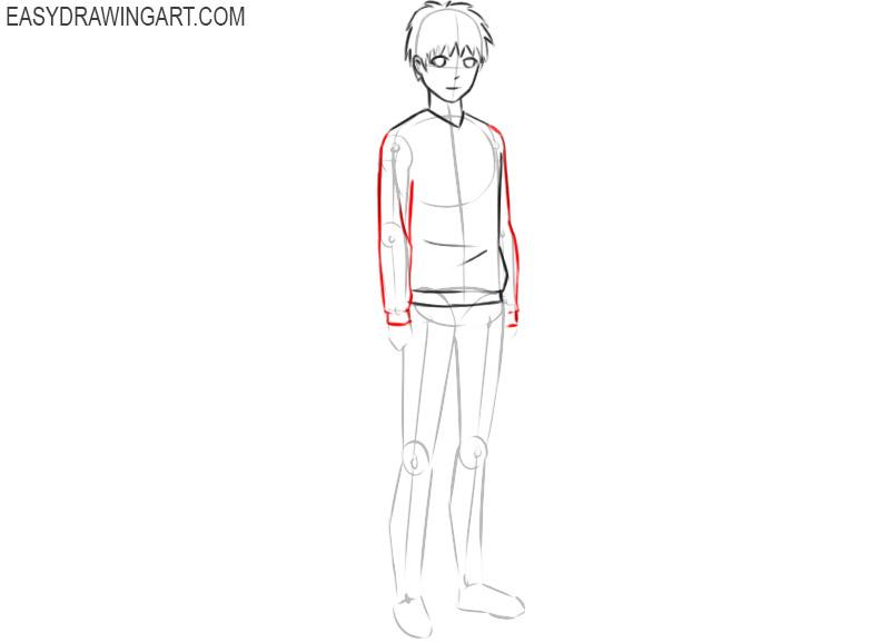 Anime body drawing