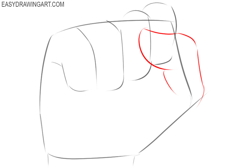 Clenched fist drawing