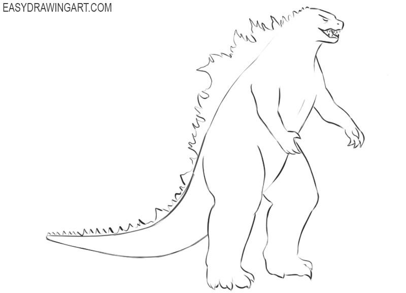 Godzilla drawing tutorial
