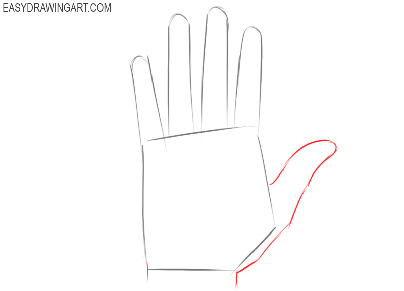 Hands drawing tutorial