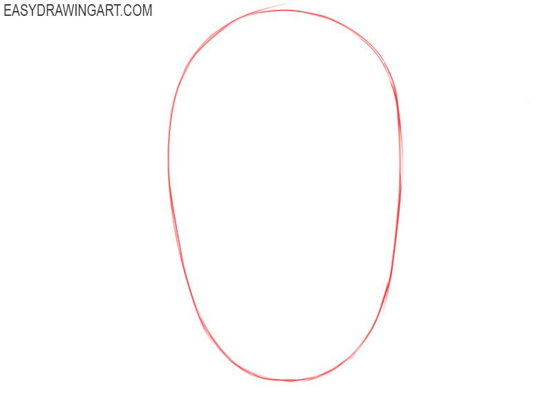 Head shape drawing
