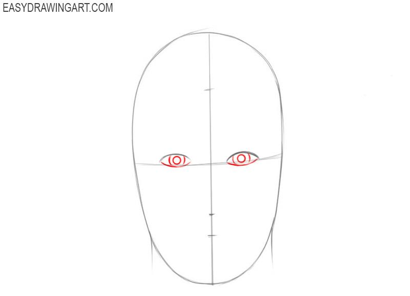 How do you draw a face