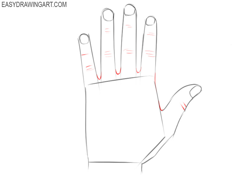 How easy to draw hands