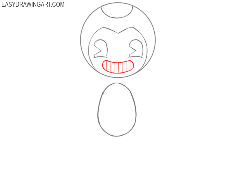 How to draw Bendy face