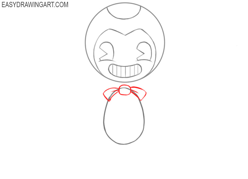How to draw Bendy monster