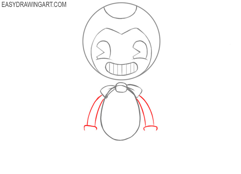 How to draw Bendy's hands