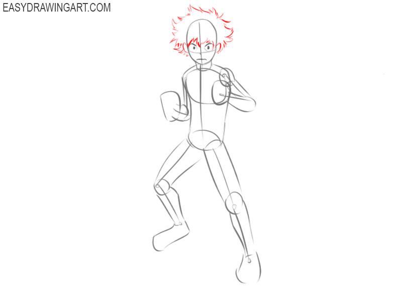 How to draw Deku anime