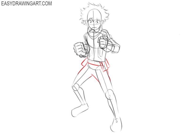 How to draw Deku from anime
