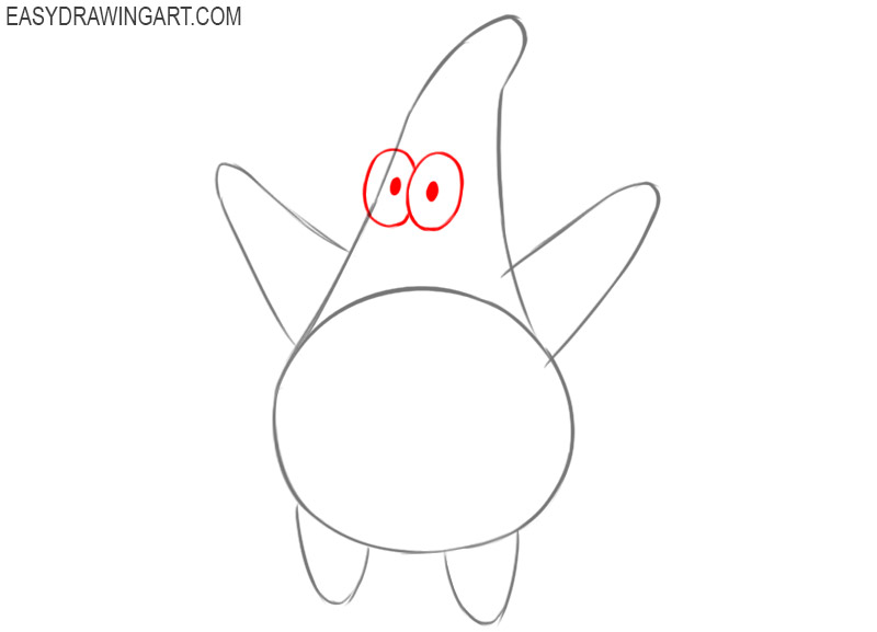 How to draw Patrick Star step by step