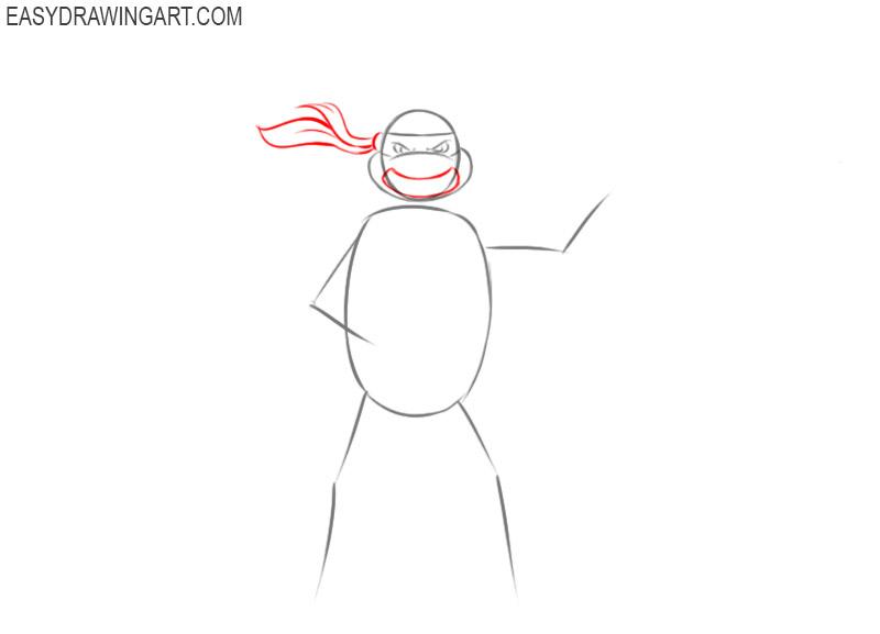 How to draw Teenage Mutant Ninja Turtles easy